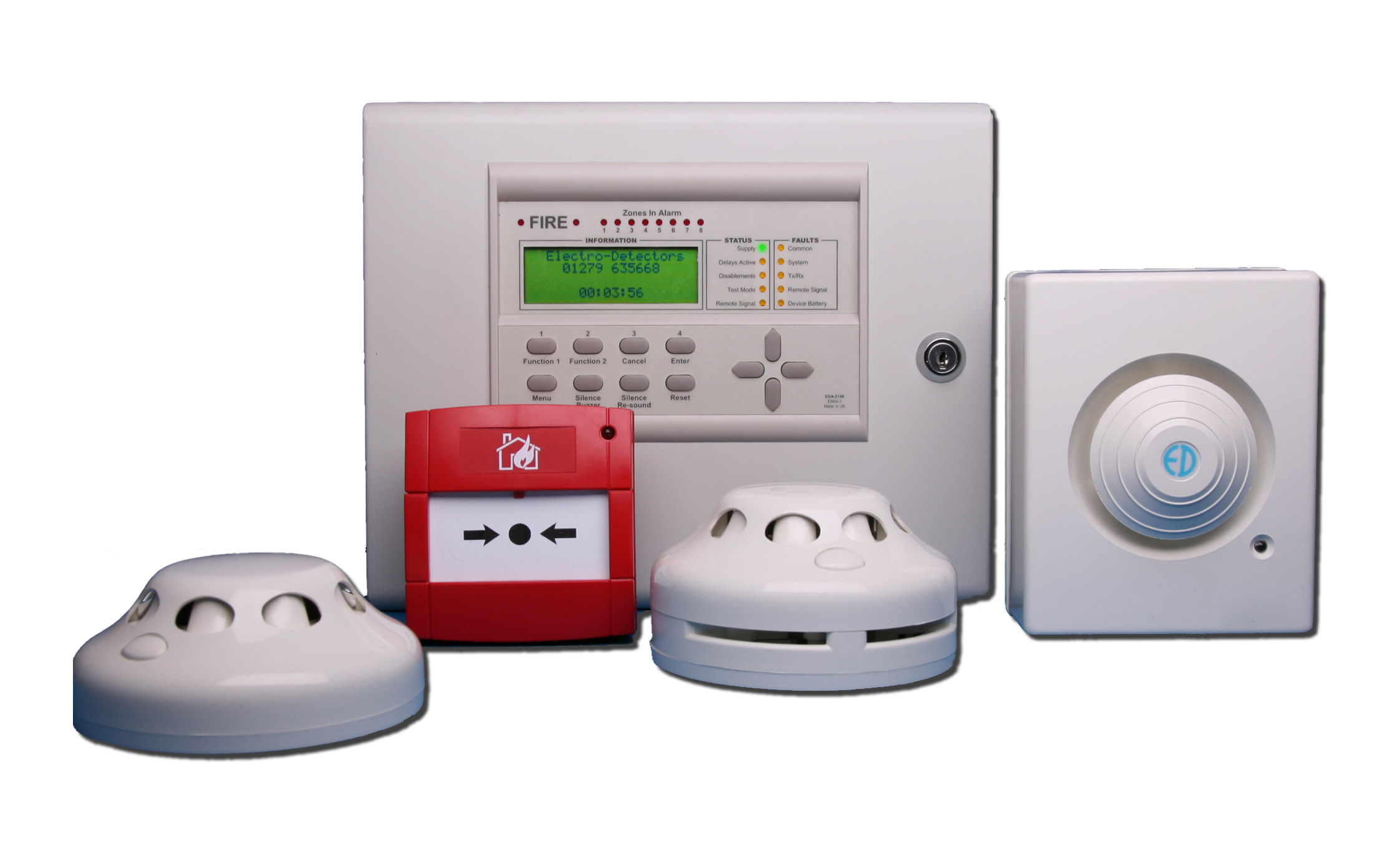 Fire Alarm Systems on two way radio base stations